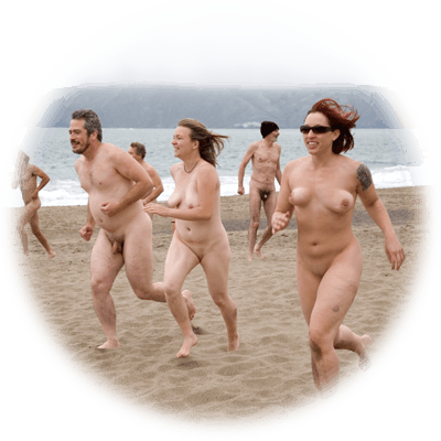 Nude beach party remarkable, very