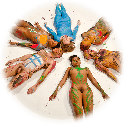 colorful painted bodies