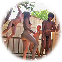 dancing naked on the deck