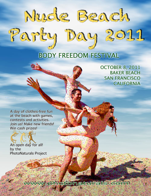 Nude Beach Party Day Poster